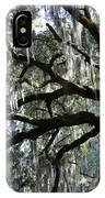 Silver Savannah Tree IPhone Case