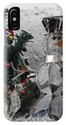 Silver Snowman With Christmas Tree IPhone Case