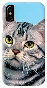 Silver Tabby Kitten Original Painting For Sale IPhone Case