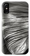 Silvertone Leaf IPhone Case