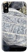 Beautifully Patterned Rock On The Beach In Alaska IPhone Case