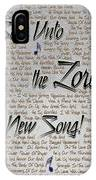 Sing Unto The Lord A New Song IPhone Case