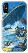 Sinking Of The Titanic IPhone Case