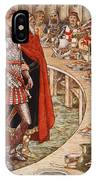 Sir Galahad Is Brought To The Court Of King Arthur IPhone Case