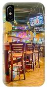 Sitting Area Inside Of A Tavern Bar Restaurant IPhone Case