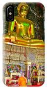 Sitting Buddha In Wat Suthat In Bangkok-thailand IPhone Case