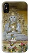 sitting Buddha made from one single marble block in KYAUKTAWGYI PAGODA IPhone Case