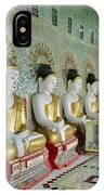sitting Buddhas in Umin Thonze Pagoda IPhone Case