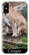 sitting Cougar IPhone Case