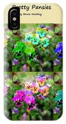 Six Pretty Pansies IPhone Case