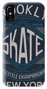 Skate Board Typography, T-shirt IPhone Case