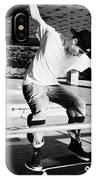 skateboarder at the undercroft skate park of the southbank centre London England UK IPhone Case