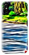 Skateboarder In Central Park IPhone Case