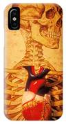 Skeleton And Heart Model IPhone Case