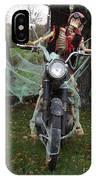Skeleton Biker On Motorcycle  IPhone Case
