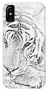 Sketch With Golden Eyes IPhone Case