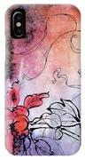 Sketchflowers - Calendula IPhone Case