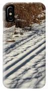 Ski Track In Sunlight In Spring IPhone Case