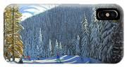 Skiing  Beauregard La Clusaz IPhone Case