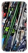 Skis At Mccauley Mountain II IPhone Case