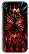 Skc 0285 Cut Glass Plate In Red And Blue IPhone Case