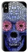 Skull Art - Day Of The Dead 1 Stone Rock'd IPhone Case