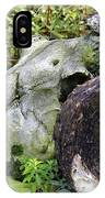 Skull At Cluny Gardens IPhone Case