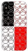 Skull Black Red White Pattern Background IPhone Case