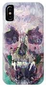 Skull Vampire Oil Portrait IPhone Case