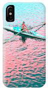 Skulling Boat At Sunset IPhone Case
