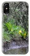Skunk Cabbage Blooming In Washington State Forest  2 IPhone Case