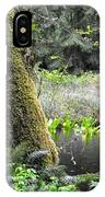 Skunk Cabbage Blooming In Washington State Forest  3 IPhone Case