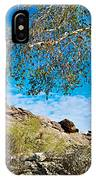 Slanted Rocks And Sycamore Tree  In Andreas Canyon In Indian Canyons-ca IPhone Case