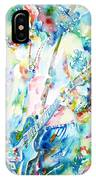 Slash Playing Live - Watercolor Portrait IPhone Case