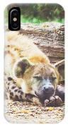 Sleeping Hyena IPhone Case