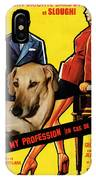 Sloughi Art - Love Is My Profession Movie Poster IPhone Case