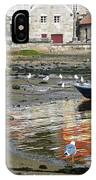 Small Boats And Seagulls In Galicia IPhone Case