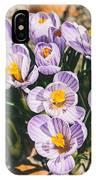Small Crocus Flower Field IPhone Case