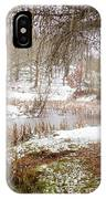 Small Lake In The Snow IPhone Case