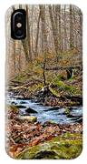 Small Pennsylvania Creek In Autumn IPhone Case