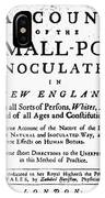 Smallpox: Title Page, 1726 IPhone Case