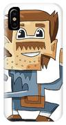 Smart Guy Doodle Character IPhone Case