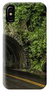Smoky Mountain Tunnel In The Rain E123 IPhone Case