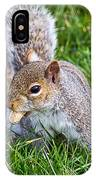 Snack Time For Squirrels IPhone Case