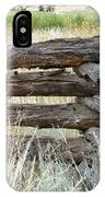 Snake Fence And Sage Brush IPhone Case