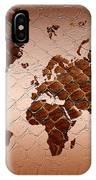Snake Skin World Map IPhone Case