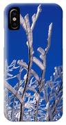 Snow And Ice Coated Branches IPhone Case