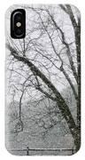 Snow And Pecan Tree IPhone Case