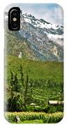 Snow-capped Andes Mountains With Snowline Above 17000 Feet-peru IPhone Case