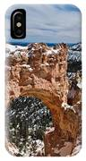 Snow Capped Arch At Bryce IPhone Case